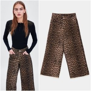 NWT Zara animal print culotte pants - size 6